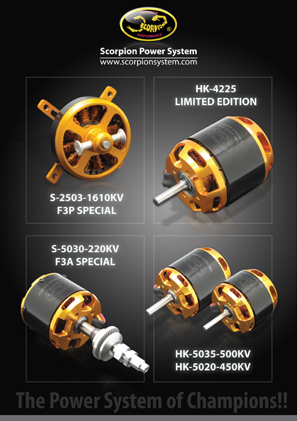 New Scorpion Series Motors are now avaliable for backorder