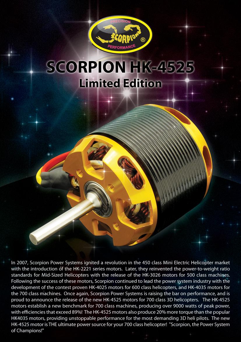HK-4525-520KV Motor (Limited Edition)