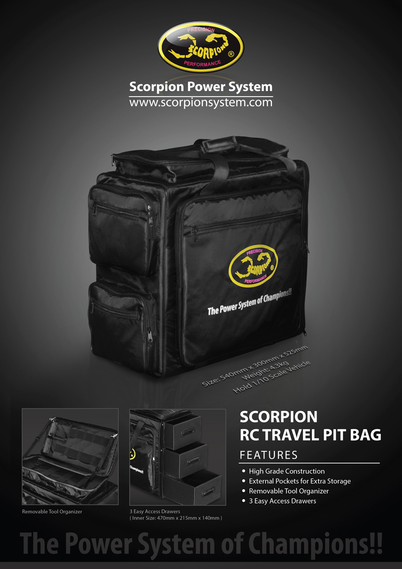 New Released Scorpion Rc Travel Pit Bag Scorpion