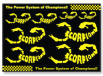 Scorpion Decal Sticker 001 (A4 Size)